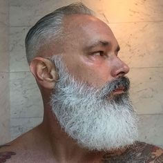 Big Beard Emporium, click now for more info. Beard Styles For Men, Hair And Beard Styles, Long Hair Styles, Hot Beards, Grey Beards, Moustaches, Beard Look, Big Beard, Grey Hair Beard