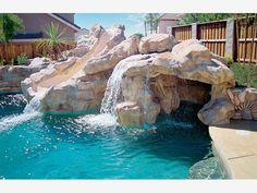 Swimming Pools With Waterfalls And Slide swimming pools with slides and waterfalls | houston pool builder's