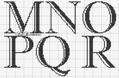 Cross Stitching, Cross Stitch Embroidery, Embroidery Alphabet, Cross Stitch Alphabet Patterns, Stitch Cartoon, Xmas Stockings, Alphabet And Numbers, C2c, Monograms