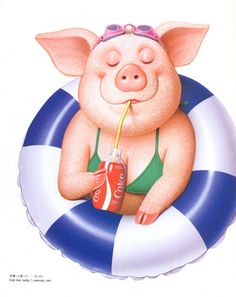 Pig on holiday