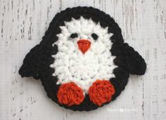 P is for Penguin: Crochet Penguin Applique