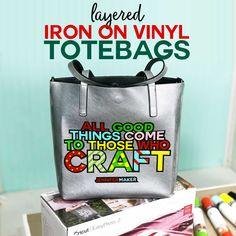 best=How to Layer Iron On Vinyl Cute Tote Bag Design Jennifer Maker LBridal Diy Hanging Shelves, Diy Wall Shelves, Minnie Mouse, Diy Pallet Sofa, Girly, Cute Tote Bags, Cricut Tutorials, Cricut Ideas, Iron On Vinyl