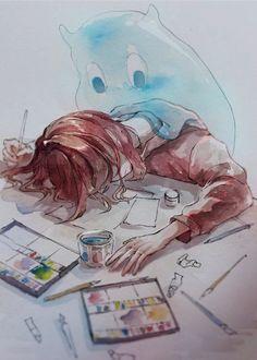Đây là nơi lưu trữ tất cả những bức ảnh mình thấy đẹp ❤ Vì điện thoại… #phitiểuthuyết # Phi Tiểu Thuyết # amreading # books # wattpad Aesthetic Art, Aesthetic Drawing, Painting Of Girl, Coffee Painting, Sad Anime, Chinos, Anime Art Girl, Beautiful Paintings, Cute Drawings