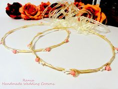 Wedding Crowns.Stefana / Orthodox Crowns.Gold by RaniaCreations