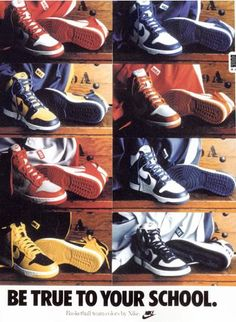 brand new 573b3 958ac Wow, the original Nike Dunk promo. Funny how Georgetown is featured in the ad  but those aren t Dunks. Big Nikes I believe