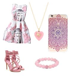 """""""On Wednesday's We Wear Pink"""" by pam-casner ❤ liked on Polyvore featuring Rainbeam and Palm Beach Jewelry"""