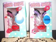 Custom Box Display Only Halloween  Baltimore Divine Drag Queen Mask  #www99woostercom #Transparent #DragQueenRolePlaying