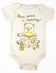 Yay for onesies that celebrate future readers!