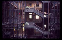Bradbury Building...Setting of numerous movies including The Maltese Falcon through Nicholson's Wolf.