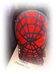 Martinslaterne mit Spiderman-Motiv