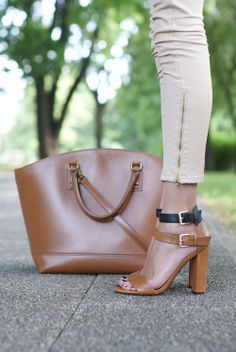 black + brown leather shoes from zara // fall fashion