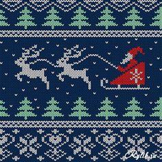 Вязаные новогодние фоны, текстуры в векторе. Christmas Sweater Backgrounds