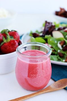 Add a little spring flair to your salad with this elegant strawberry champagne vinaigrette
