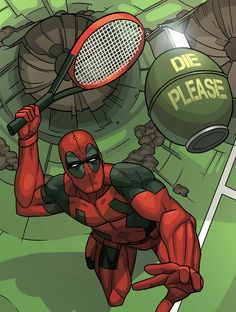 "youngjusticer: ""Tennis would be so much better if it were played like this. Dead Point, by David Do. """