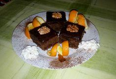 Diós-csokis kocka fűszeres lekvárral