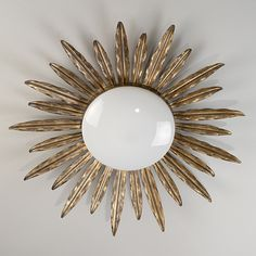 sunburst flush ceiling light - possibly for our front entry hall?