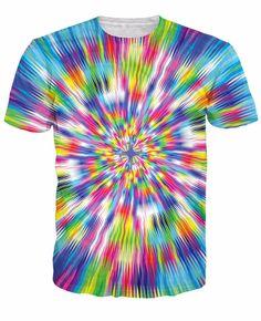 Une Vitesse vertigineuse T-Shirt Psyché Trippy T-shirt Femmes Hommes Imprimé T-Shirt Hip Hop Tops T-shirts Outwear 3d T Shirts, Graphic Tee Shirts, Casual T Shirts, Printed Shirts, Rave Outfits Men, Hip Hop, How To Tie Dye, Tie Dye Colors, Short Sleeve Tee
