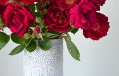 - Dream a Little Bigger Craft Blog - Mod Podge Lace Vases Tutorial