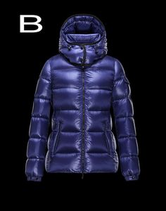 Moncler Berre Women Doudoune Legere Shiny Detachable Hood Down Jacket Royal Free Shipping