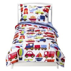 Bacati Transportation 4pc Toddler Bedding Set
