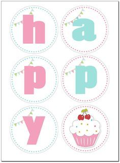 Cupcake Themed Birthday Party with FREE Printables