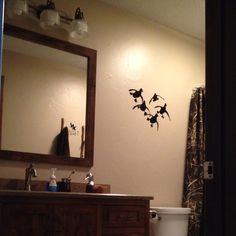 Hunting Bathroom Decor Ideas hunt club sportsman duck hunting lodge bathroom shower accessories