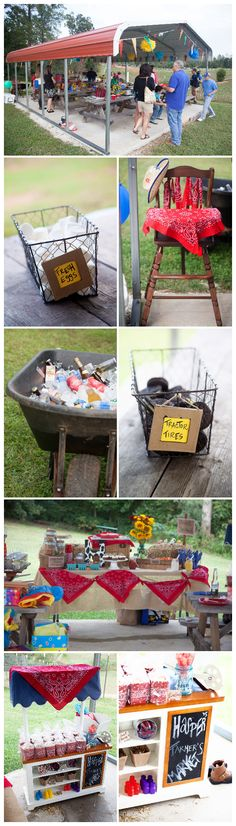 Fried Pink Tomato Birthday Party Ideas I like how they have the marshmallow as fresh eggs and the Oreos as the tractor tires ❤❤❤