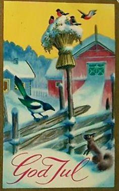 Julekort Harald Damsleth Christmas Bird, Antique Christmas, Vintage Christmas Cards, Christmas 2017, Xmas Cards, Vintage Cards, Vintage Postcards, Christmas Postcards, Christmas Pictures