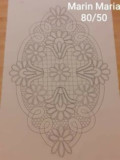 Bobbin Lace Patterns, Tatting Patterns, Macrame Patterns, Border Embroidery Designs, Cutwork Embroidery, Quilting Designs, Machine Quilting Patterns, Quilt Patterns, Crochet Flower Tutorial