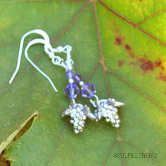 Grape Earrings  Vèraison Purple by WineCountryCharm on Etsy, $24.00