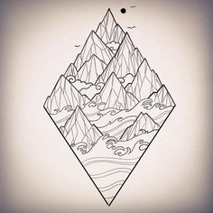 """Linework for @rory_mosedale for this friday! ⛰"" -- sophiextattoo"
