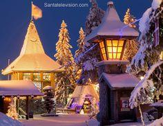 Weihnachtsmann.fi Bild: Nordpolarkreis und Hauptpostamt des Weihnachtsmann` in Rovaniemi in Finnland - Lapplnad
