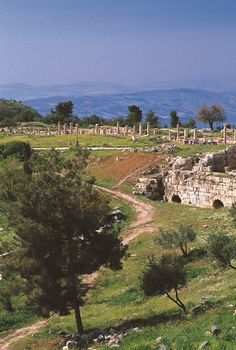 The ancient Roman city of Umm Qays, or Gadara (as it is known in the Bible)
