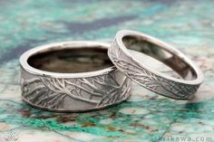 Tree of Life Wedding Band Set in white gold. Choose your favorite metal and comfortable width and we will create you set just for you and you loved one. A perfect wedding ring for any nature lover!
