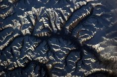 Jagged Mountaintops - Part of the Himalayas from Space