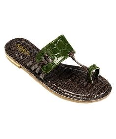 05429c463 Take a look at this Brown  amp  Green Rana Sandal by Blow-Out