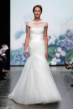Love the neckline. Monique Lhuillier Spring 2012 Bridal