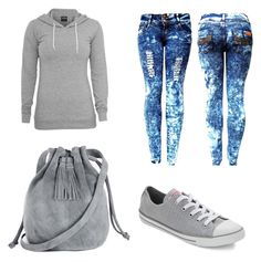 """""""for every day """" by bsenid ❤ liked on Polyvore featuring Converse and Warehouse"""