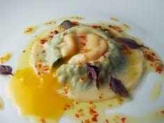 Egg yolk ravioli , next on the trying list