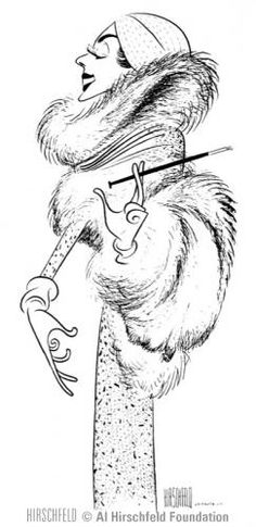 Auntie Mame by Al Hirschfeld. Best movie with Rosalind Russell