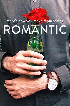 Not all drinks are packaged equally. With Perrier, you can take advantage of that by adding a little impromptu ambiance to any date. Throw a rose into a Perrier bottle and have yourself a darling centerpiece in the center of town. Check out perrier.com and get inspired.
