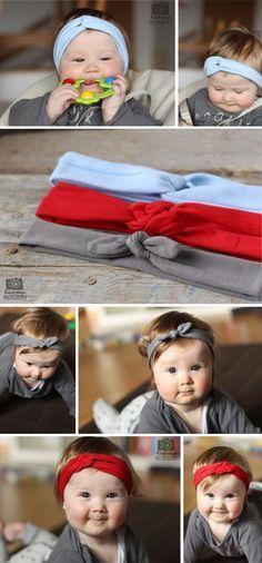 Haarband, Stirnband, süß-ausseh-Band - niedlicher geht's kaum! Gleich nachnähen mit der Anleitung im Link.