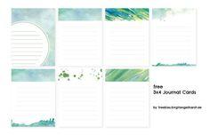 free 3×4 journal cards: colorful   Texturen & Journaling //