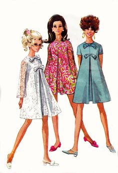 1960s Vintage Sewing Pattern Simplicity sixties dresses