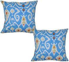 Indian Block Printed Cushion Covers Decor Pillow Cases Cover Pair Throw 40cm