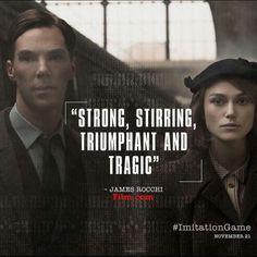 THE IMITATION GAME (2014) Benedict Cumberbatch & Keira Knightley