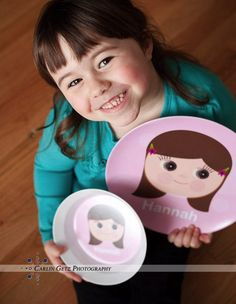 Cute personalized children's dishes, sippy's and water bottles!