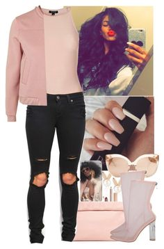"""8/24/16"" by jasmineharper ❤ liked on Polyvore featuring Aamaya by priyanka, Luv Aj, Marie Turnor, Topshop and Linda Farrow"