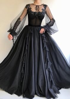 Black Long A-line Prom Dress, Long sleeves Modest Prom Gown .- Black Long A-line Prom Dress, Long sleeves Modest Prom Gown Black Long A-line Prom Dress, Long sleeves Modest Prom Gown Black Long A-line Prom Dress, Long sleeves Modest Prom Gown - Prom Dresses Long With Sleeves, Black Prom Dresses, A Line Prom Dresses, Tulle Prom Dress, Ball Gown Dresses, Elegant Dresses, Pretty Dresses, Formal Dresses, Dress Long