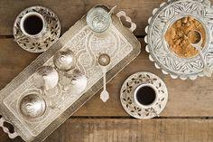 Türk kahvesi sunumu....